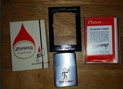Rare Vintage Reddy Zippo Lighter w/ Original Box & Papers 1975