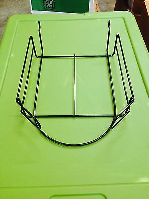 Black Coated Metal Wire Retail Store Slatwall Hat Cap Tray