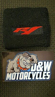YAMAHA YZF R1 Front Brake Cylinder Cover Reservoir Sock Embroidered RED