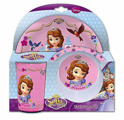 Disney Princess Sofia the First Children's Tableware Set. Plate , Bowl ,  Beaker