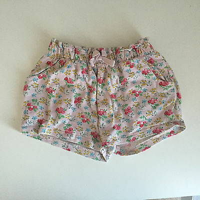 Baby Girl Next Shorts Size 12-18 Months Pink Floral Summer Holiday