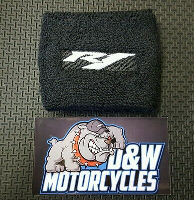 YAMAHA YZF R1 Front Brake Cylinder Cover Reservoir Sock Embroidered WHITE