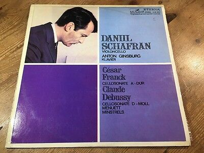LP 826949 FRANCK DEBUSSY SHAFRAN GINZBURG Cello Sonatas ETERNA 1977