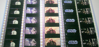Star Wars New Hope - Rare Unmounted 35mm Film Cells - 5 Strips P1