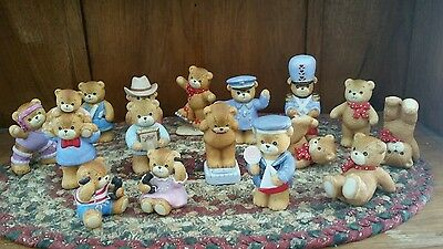 Lucy And Me Bears Vintage Lot Of 16 Cute Cowboy Phone Exercise Drummer