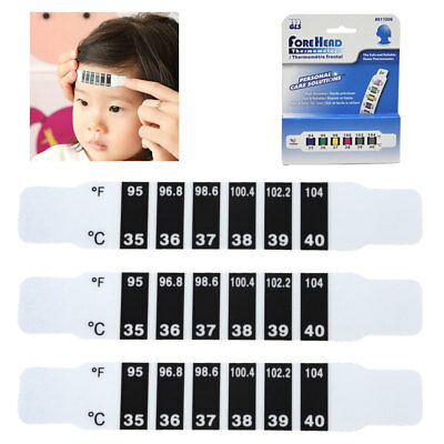 2x Baby Kids Adults Forehead Strip Head Thermometers Fever Reusable Reads Test R