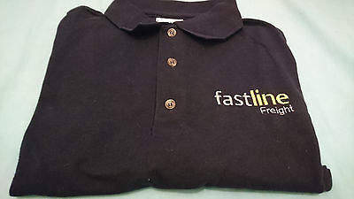 Br British Rail Fastline Freight Polo Shirt Brand New Clearance Navy Blue