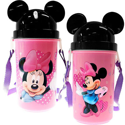 Disney Kids Minnie Mouse Bottle With Ears Pink