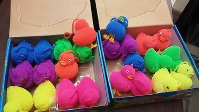 12 SQUEEZE STRESS light up PUFFER BALL rubber toy balls dozen New Autism Therapy