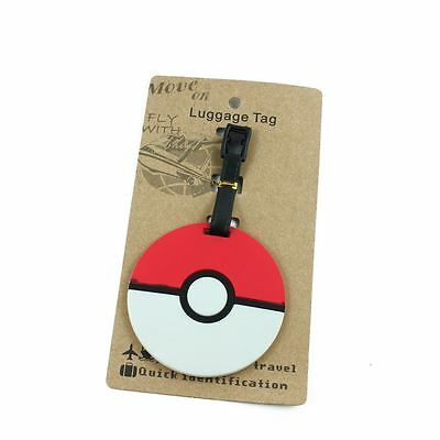 Cute Pokemon Luggage Tag Name Bag Card Holder Travel Suitcase Baggage-A00077