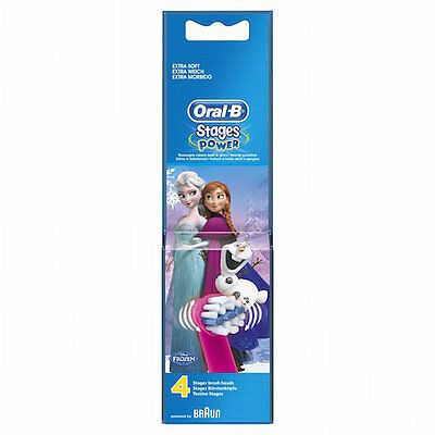 Oral-B Stages Kids Frozen Replacement Toothbrush Heads - Pack of 4