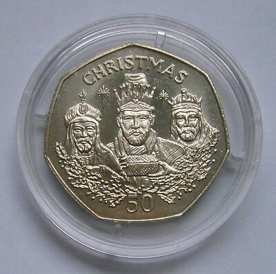 Gibraltar 50 Pence 1988, The Three Wise Men / The Three Kings - Christmas