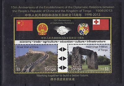 Tonga Block 71 (1930 - 1931) **, Beziehungen mit China / Chinese Relations (I)