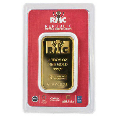 1 oz Gold Republic Metals Corp (RMC) Bar