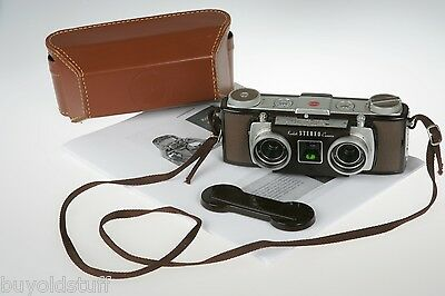 VERY CLEAN 1950's Kodak Stereo 3-D 3D Camera & Case Twin 35 f/3.5 Lenses TESTED