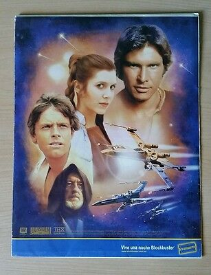 Star Wars Promo Posters set from Blockbuster Mexico - Original Trilogy 2004