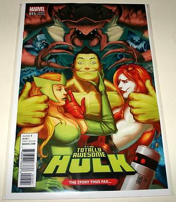 The Totally Awesome HULK  # 15 Marvel Comic  2017  NM   STORY THUS FAR VARIANT