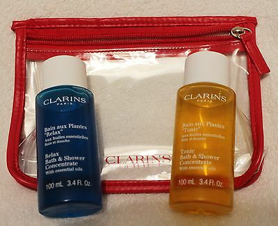 Clarins Relax & Tonic Bath & Shower Concentrates x 100ml each in bag