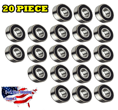 608-2RS Ball Bearing Dual Sided Rubber Sealed Deep Groove (20PCS)