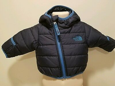 Nwt The North Face Cosmic Blue  Reversible Jacket Baby Boy  3 Months