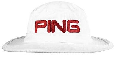 Ping Boonie Hat Mens Golf Cap White/red Size S/m - New 2017