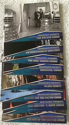 Doctor Who 2015 by Topps 10 Card Memorable Moments Chase set MM1-10