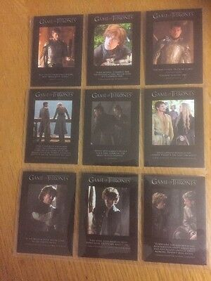 Game Of Thrones - Season 4: Chase Cards: Quotable - 9 Card Set Q31-Q39