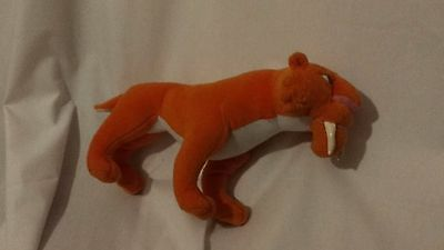 """11"""" cute soft diego saber toothed cat  ice age 2 mattel  plush doll"""