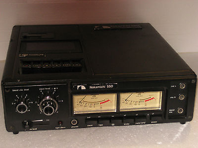 Nakamichi 550 Professional 3 Mic. Field portable Cassate Recorder use D battery