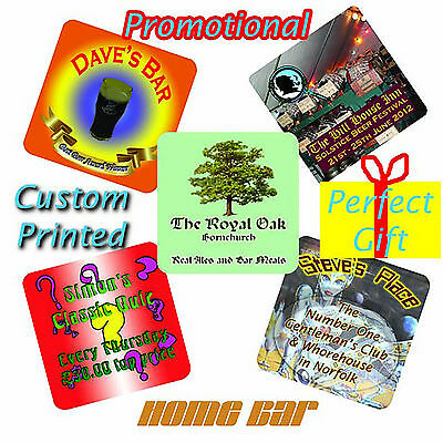 Personalised Beer Mats printed with YOUR image and/or your text