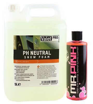 Valetpro ph Neutral Snow Foam 5l und Chemical Guys Mr.Pink Foam Nachfüller
