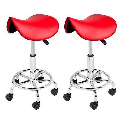 2 Red Salon Stool Hydraulic Chair Tattoo Facial Beauty Spa Massage Clinic Doctor