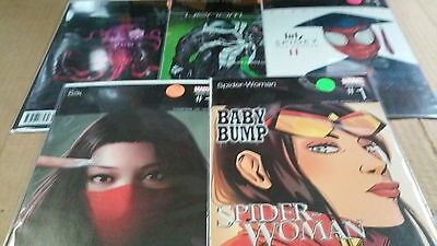 "Hip Hop Variant Lot 5 different Spider-Man Themed Comics ""Artistic Awesomeness"""