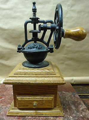 Coffee Mill Made From Cast Iron & Solid Oak