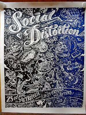 Social Distortion OC Band Fabulous Hand Done Silk Screen Concert Poster Signed