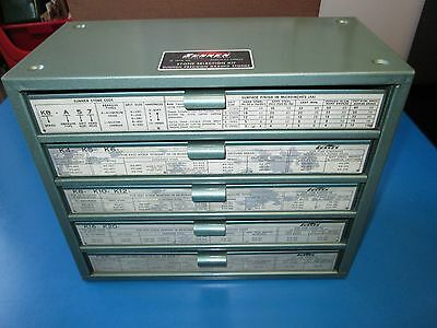 Sunnen Hone Stone Cabinet, 5 Drawer, All Contents, Stones, Very Good Condition