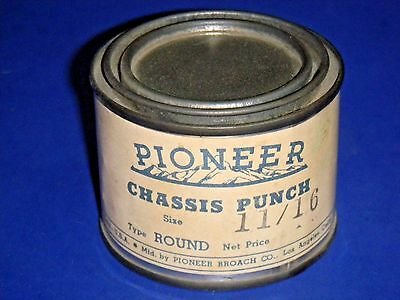 "Vintage Pioneer Round Radio Chassis Knockout Punch 11/16"" Sealed in Can NOS"