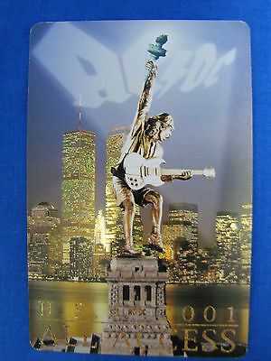AC/DC U.S.A 2001 All Access Backstage Pass New York Twin Towers