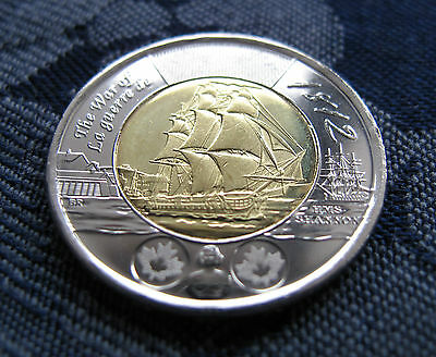 2012 $2 HMS Shannon 1812-2012 Toonie Mint from RCM Roll. Uncirculated
