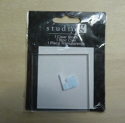 "Studio G 1 clear block for mounting clear stamps, Hampton Art 2 1/2""x2 1/2""x1/2"""