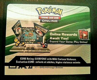 BREAKthrough code Pokemon Trading Card Game Online NEW UNUSED EMAIL FAST PTCGO