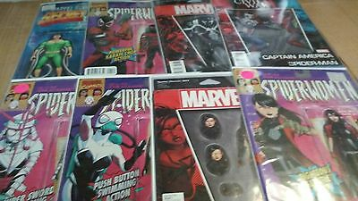 "Action Figure Variant Lot of 16 different Spider-Man Themed Comics ""AWESOME"""