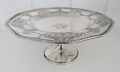 Whiting STERLING Silver  SOLID Raised COMPOTE w/ MONO