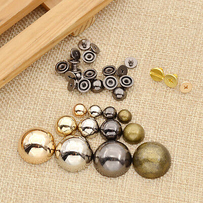 10 Pcs Rivet Spike Studs Screw Dome Shape Punk Spots DIY Leathercraft Alloy New