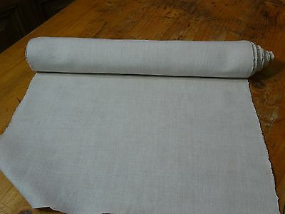 A Homespun Linen Hemp/Flax Yardage 7 Yards x 19'' Plain  # 8310