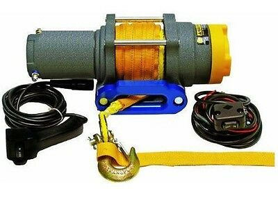 WINCH - Heavy Duty - 12 Volt DC - 1.6 Hp - 3,500 Lb Cap - 50 Ft Synthetic Rope