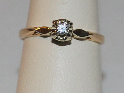 14K Gold ring with a diamond