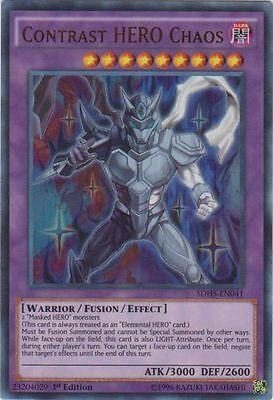 3x Contrast HERO Chaos - SDHS-EN041 - Ultra Rare - 1st Edition - Near Mint