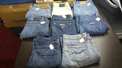 Women's Mixed Lot of 8 Pairs of Premium Jeans,Various Brands,styles and sizes