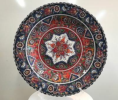 Turkish Hand Painted and Handmade Ceramic( 40cm ), Colorful Traditional.